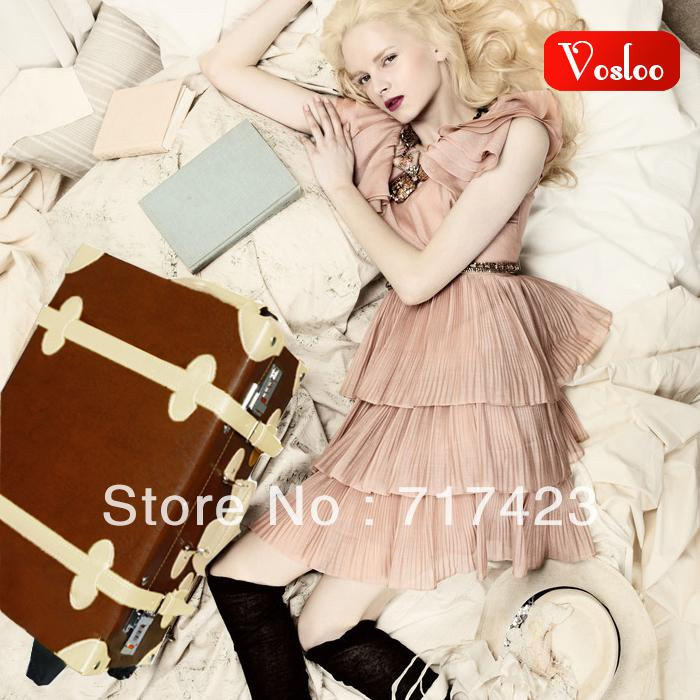Vosloo Vintage Trolley Luggage Picture Box Female 20 Suitcase ...