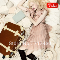 Wholesale Vosloo vintage trolley luggage picture box female suitcase universal wheels travel bag luggage bag