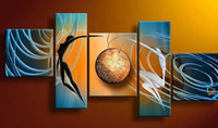 Cheap More Panel Pictures Best Oil Painting Abstract Oil painting