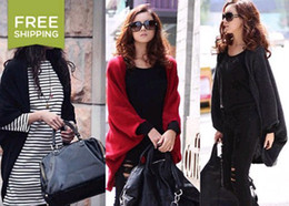 Wholesale Hot Women s Over Size Batwing Knit Cape Ponchos Open Style Tops Sweater Cardigan