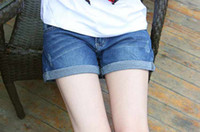 Summer belly jeans - New Maternity Jeans Short Pants fashion pregnant women shorts prop belly pants