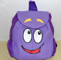 mr - Dora The Explorer Mr Face Plush Backpack Shool Bag Purple Toddler Size New