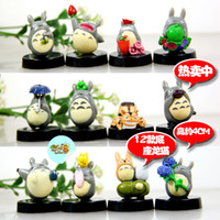 Wholesale Cute set Anime MOVIE My Neighbor TOTORO Figures with base New And Ret