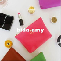 Wholesale Korea style sweet bow design zipper Cosmetic bag color make up bag FreeShipping