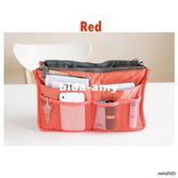 Wholesale Color Women Makeup handbags Travel Insert Handbag Organiser Purse Large liner Organizer Bag