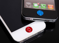Wholesale Metal Aluminium Home Button Sticker for iphone5 S for ipad for ipod for itouch