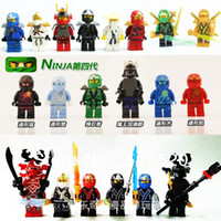 Wholesale Ninjago Building Block Sets Ninja Minifigure With Weapons Bricks Toys Without Orignial Box