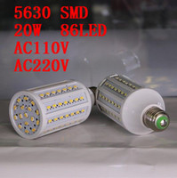 Wholesale LED Corn Light Bulb SMD W LED Light E27 degree High Power Warm cool White V V pcsl