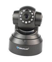 Wholesale VStarcam T6836WTP Wireless IP Camera P2P Dual Audio IR Night Vision Pan Tilt Speed Monitor Black F2096A