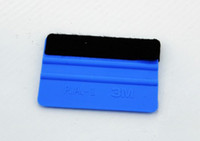 Wholesale Car Vinyl Film wrapping tools M soft flexible squeegee Scraper with felt size cm cm DHL