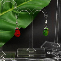 Wholesale 1Sets Tender Leaf Clear Acrylic Earring Jewelry Holder Display Stand Fashion Jewelry Display