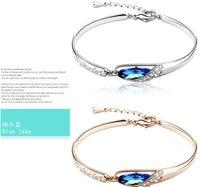 Wholesale New Arrival Bracelet Fashion CZ Crystal Hand Chain Fashion Luxurious Fine Bracelet Czech Crystal Gold Silver Color Gift