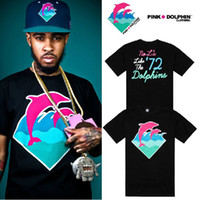 Wholesale New amp hot Pink Dolphins T Shirt hip hop t shirts snapback lovers Tee cotton