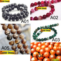 Wholesale AAA DIY mm mm colors U pick Matte natural viens onyx agate Round spacer loose beads