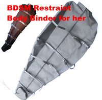 Cheap BDSM Body Bondage Sex Games Sleep Sack Body Binder Bag Kinky Fetish Bondage Femdom Sex Toys Adult