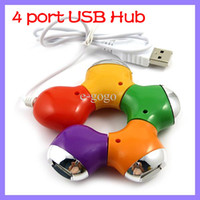 Wholesale 4 Port USB Breakout Hub Multi Color Flower High Speed Port Hub Hubs For Laptop PC Notebook Computer