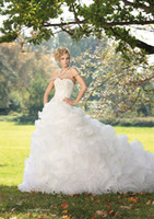 Luxuriant Sweetheart Ruffled Skirt Wedding Dresses Ball gown...