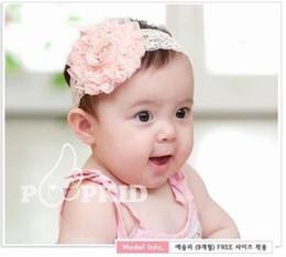 Cute! 30PCS Newborn Toddler Baby Girls Vintage Style Lace Flower Headband Children Elastic Hair Band Headwear Kids Hair Accessories 3Colors
