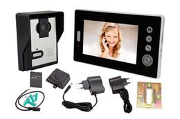 Systèmes d'interphone de portier vidéo à vendre-One to One 7 '' écran couleur 2,4 GHz numérique sans fil porte d'entrée vidéo Intercom Téléphone