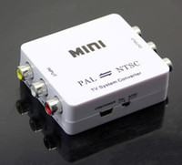 Wholesale PAL to NTSC SECAM to PAL NTSC Video MINI Bi directional TV Format System Converter
