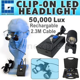 Wholesale DLH New Dental Surgical Portable LED Head Light Lamp for Loupes Dentist High Quality m feet Cable Length