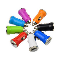 Wholesale 10pcs NEW USB Car Cigarette Lighter DC Power Charger Adapter Several colors Send the product color random