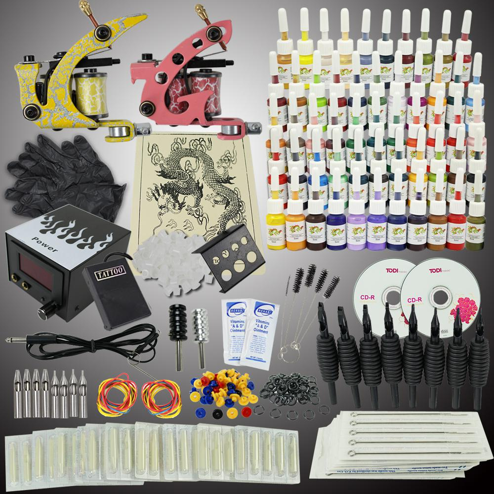 Ups ship tattoo kit 2 machine gun power supply needles set for Cheap tattoo kits amazon