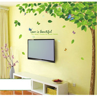 big green tree wall decal - 1PCS Big Green Tree Wallpaper DIY WALL DECALS Stickers Home Deco x90cm