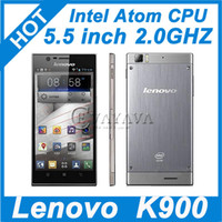 WCDMA900/2100 Thai Android 4.2 Lenovo K900 Intel Atom Z2580 2.0GHz Android cell phone 5.5 inch AH IPS FHD 2GB RAM 16GB ROM Android 4.2.1 13.0MP Multi Language 3G GPS