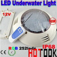 Wholesale 12Volt LED Swimming Pool LED Light W IP68 Underwater FloodLight V W RGB led swimming pool light IP68 leds with RGB remote control