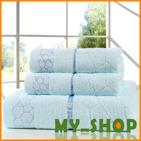 Wholesale bath towels washcloth scarf three piece exports Specials thick cotton Towel JJ0037
