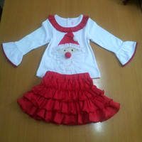Wholesale Childrens Christmas Clothes Girl Suit Outfits Holiday Wear Baby Special Occasions Lovely Set Kids Christmas Clothing Long Sleeve Tops Skirt