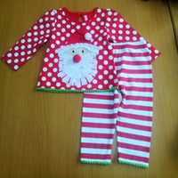 Wholesale Kids Christmas Clothing Polka Dot Tops Pants Childrens Christmas Clothes Girl Suit Outfits Holiday Wear Baby Special Occasions Lovely Set