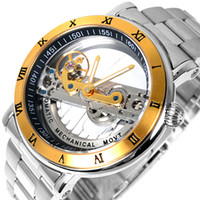 Wholesale Promotion Luxury brand IK Solid Stainless Steel M Dive Swimming Waterproof Transparent Skeleton Business Men s Automatic Mechanical Watch