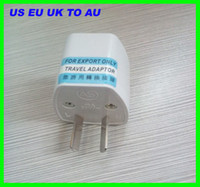 Wholesale Best price New White Universal Travel Power Adapter US EU UK To Australian AU Plug