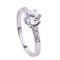Wholesale Diamond Rings Sterling Silver Rings fashion jewelry Wedding or Single CZ US Size Choice GNJ0034