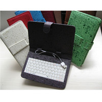 Wholesale Fashion Cute Faerie Protective Leather PU Stand Cover USB Keyboard Case for Inch Tablet PC Q88 Ainol Novo momo7 Colorful DHL Free