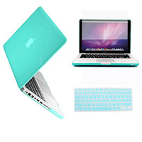 "Apple   blue Rubberized Hard case laptop shell for apple Macbook Pro 13 13.3"" Retina display A1425 +Keyboard Skin + Screen cover AM3T"