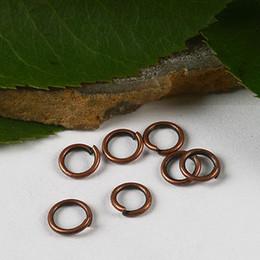 160pcs copper-tone finding jump rings H2915