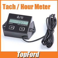 Tachometer   Free shipping Tach Hour Meter Tachometer For Motorcycle ATV Snowmobile Gas Engine Dirt Bikes #CA003