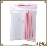 Envío libre 1000p / set pequeño bolso plástico claro de la cremallera del PE del bolso de la cerradura del cierre relámpago los 4 * 6cm