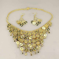 Bohemian belly dance jewelry - Belly dance necklace jewelry Indian dance accessories two sets of earrings necklace women costumes accessories C1034