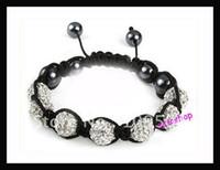 Bohemian disco beads - Noble Shamballa Bracelet Shining Crystal Disco Ball Beads Tresor Bracelet Fashion Jewelry