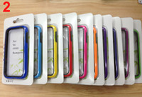 Wholesale Bumper Case for Samsung Galaxy S4 i9500 with Retail Package Cover Skin Protector Mix Colors Free China Post