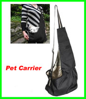 Wholesale Best Price Black Oxford Cloth Sling outdoor Pet Dog Cat Carrier Tote Single Shoulder Bag