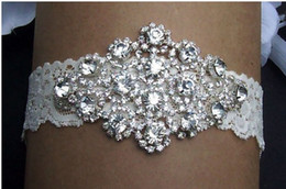 Wholesale Real Women Lace Crystal Rhinestone Lingerie Beautiful Accessory Wedding Bridal Leg Garters