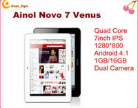 Wholesale AINOL NOVO VENUS G Quad core tablet laptops IPS inch Actions ATM7029 ghz GB novo7