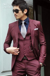 Wholesale custom made men s suits pants vest sets men s suit dress button wedding suits