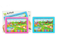 Wholesale Kid s Educational Toys Y Pad Farm Animal sound English Tablet Computer Learning Machine Touch
