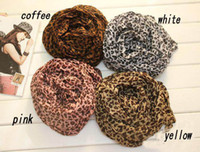 Wholesale HOT Fashion Animal Print Shawl Leopard grain ladies scarf Cotton Blends women scarves